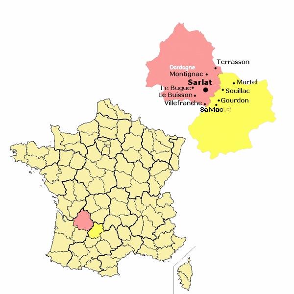 Zone de diffusion de l'Essor Sarladais
